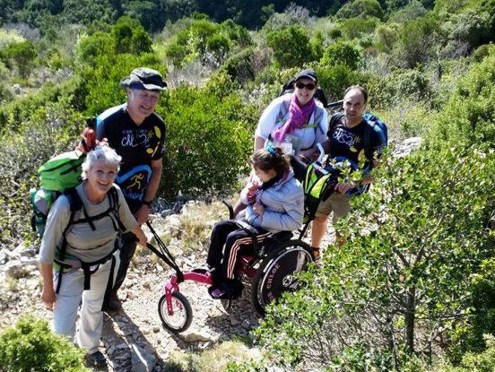 Personne handicapée à la montagne