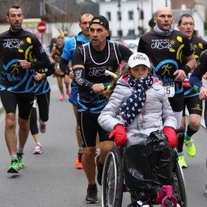 Personne handicapée en course à pied