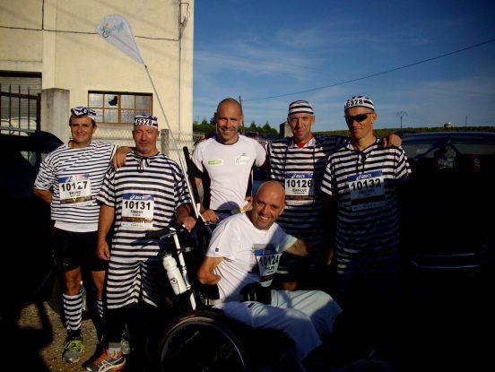 Course avec des personnes à mobilité réduite