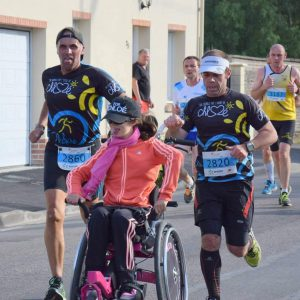 Personne handicapée en course