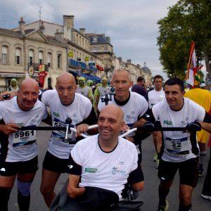 Personne handicapée pour course à pied