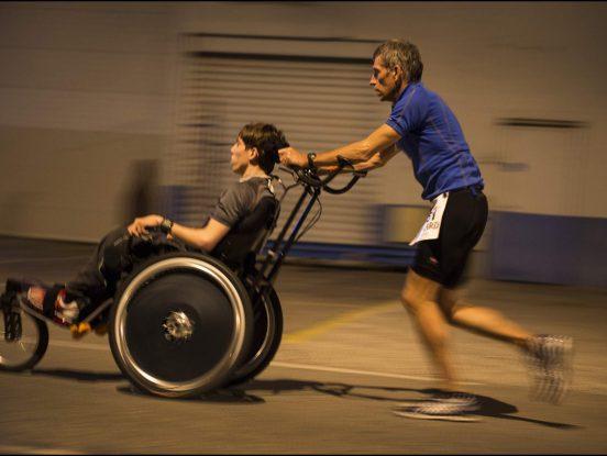 Courses sur fauteuil de randonnée