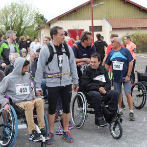 Rassemblement avant course à pied