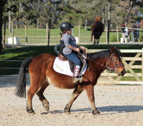 Enfant handicapé sur cheval