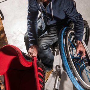 Fauteuil Mouvly pour personne à mobilité réduite