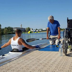 Handicapé en canoë kayak
