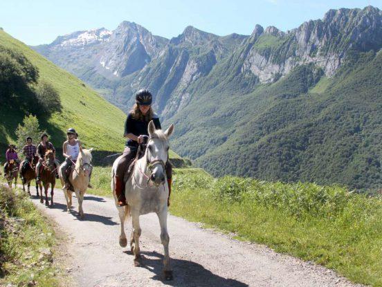 Balade chevaux en montagne